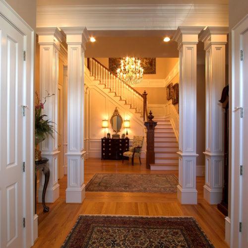 Columned Entrance