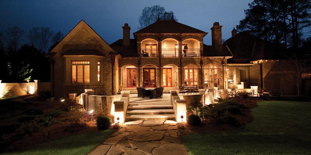 Exterior of Home Illuminated Close
