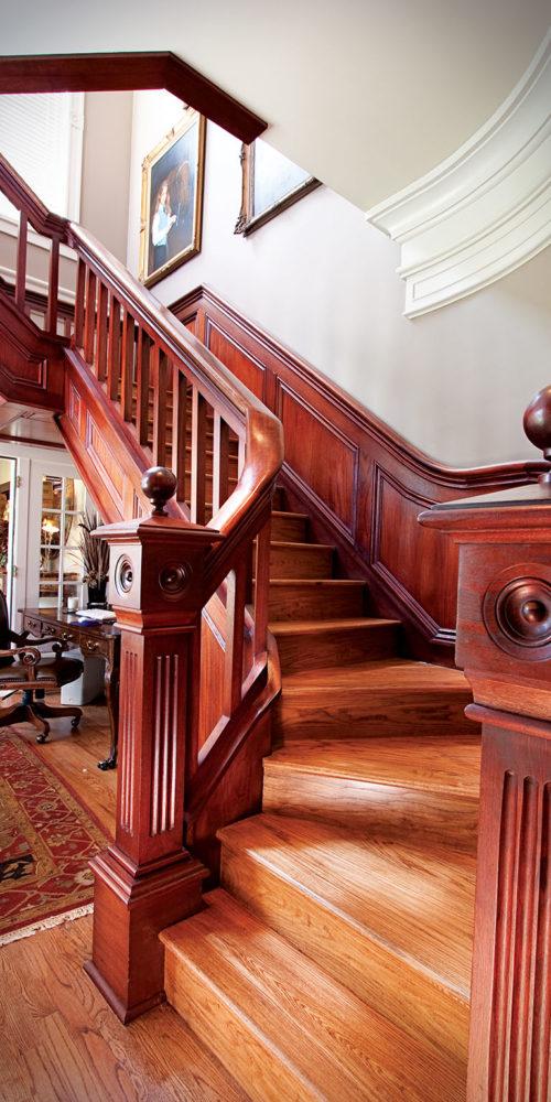 Mahogany Stairwell