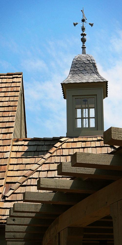 Roof with Weather Vane