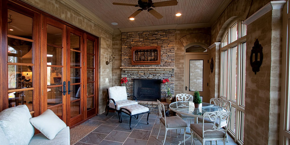 Enclosed Outdoor Seating Area