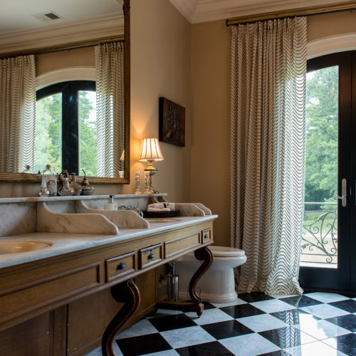 Bathroom with Harlequin Tiles