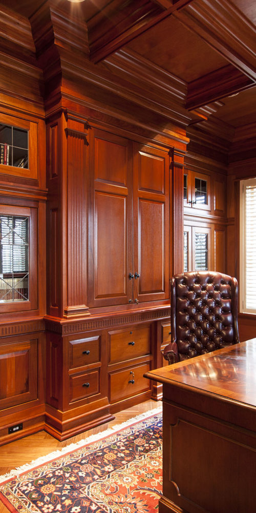 Office with Mahogany Built-In