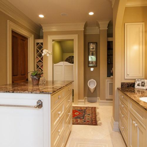 Bathroom with Vanity Island